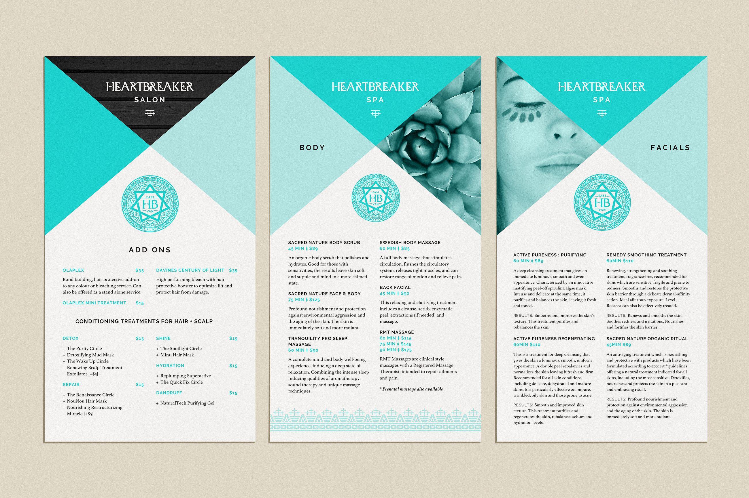 Heartbreaker Salon & Spa - brochure