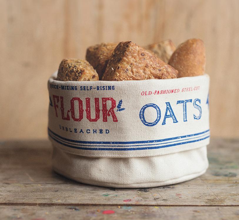 dry goods bread basket